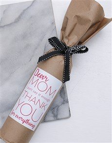 gifts: Love You Mom Wine in Craft Paper!