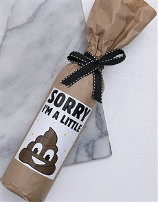 gifts: Sorry Mom Wine in Craft Paper!