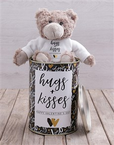 gifts: Hugs and Kisses Teddy Tin Hamper!