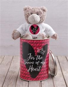 gifts: Queen of My Heart Teddy Tin Hamper!