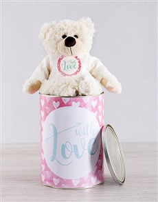 gifts: Love and Romance Teddy Tin Hamper!