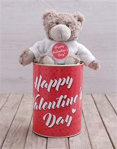 gifts: Valentines Teddy Tin Hamper!