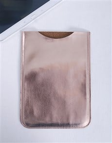 gifts: Rose Gold PU Tablet Cover!