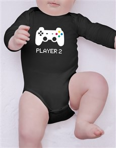 gifts: Player 2 Baby Onesie!