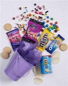 gifts: Purple Bucket of Sweet Treats!