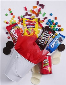 gifts: White Bucket of Sweet Treats!