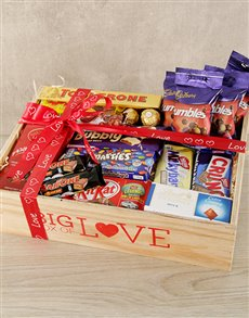 gifts: Big Love Hearts and Love Crate!