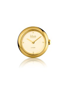 jewellery: Idun Denmark Rocking Gold Plated Charm Watch!