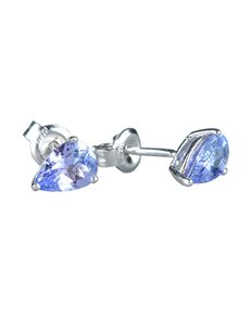 gifts: Sterling Silver Tanzanite Pear Studs 1.50ct !
