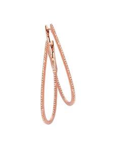 jewellery: 9KT Rose Gold Diamond Oval Hoop Earrings!