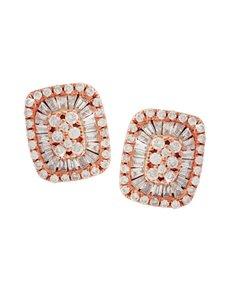 jewellery: 9KT Rose Gold 0,19ct Diamond Earrings!