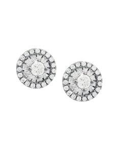 jewellery: 9KT White Gold 0,18ct Diamond Earrings!