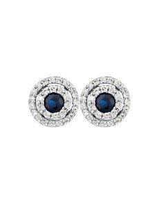jewellery: 9KT Round Diamond and Sapphire Earrings!