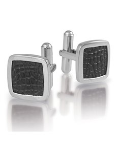 ARZ Steel Two Tone Cobble Stone Cufflinks