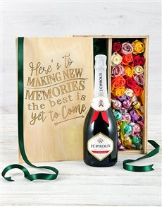 gifts: Mixed Bubbly Lindt and Rose Crate!