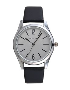 gifts: Digitime Timeless Silver and Black Watch!