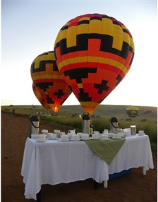 gifts: Hot Air Balloon Safari Flight with Breakfast!