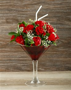 flowers: Uniquely Red Rose Cocktail Vase!