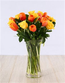 flowers: Rose and Tulip Vase!