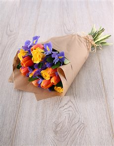 flowers: Beautiful Tulip, Iris & Rose Mix Bouquet!
