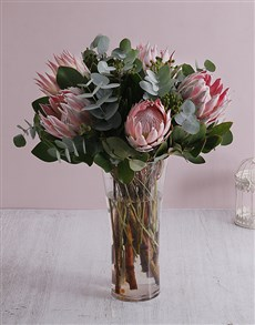 flowers: Protea King of Flowers Vase !