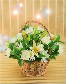 flowers: White Christmas Basket!