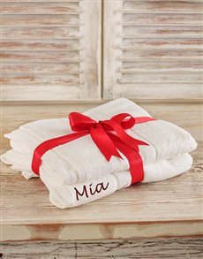 gifts: Personalised Bath Sheets!