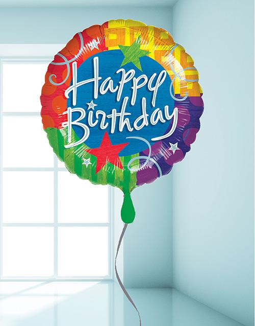 birthday: Multi Coloured Birthday Balloon!