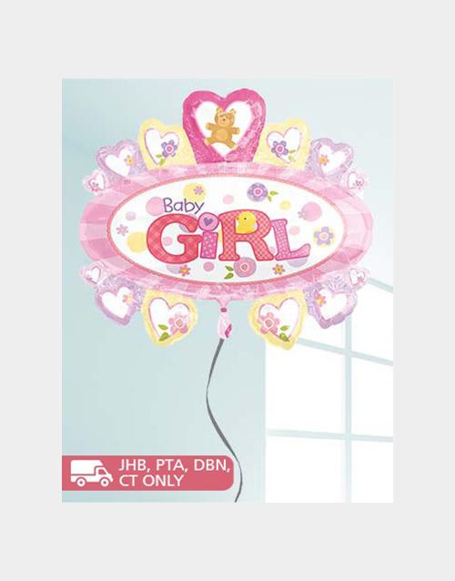 baby: Jumbo Baby Girl Balloon!