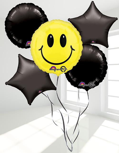 balloon: Smiley Face Balloon Bouquet!