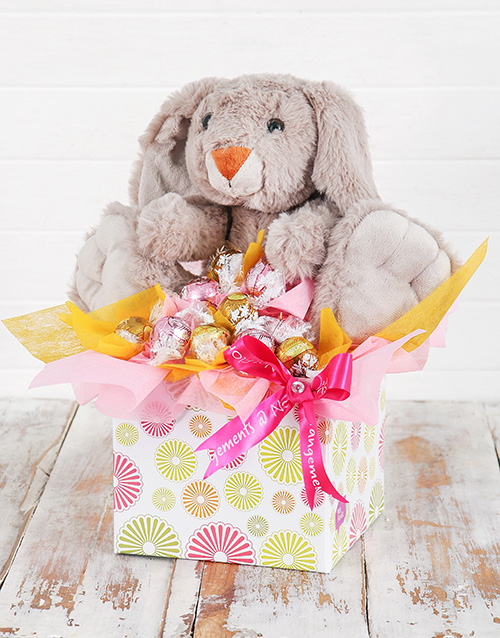 teddy-bears: Cuddly Rabbit and Lindt Box!