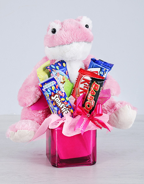 chocolate: Pink Frog and Chocolate Gift!