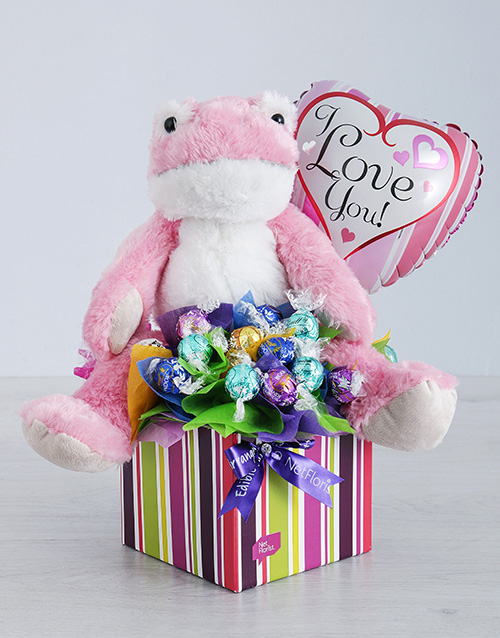 balloon: Pink Froggy Lindt and Love Balloon Box!