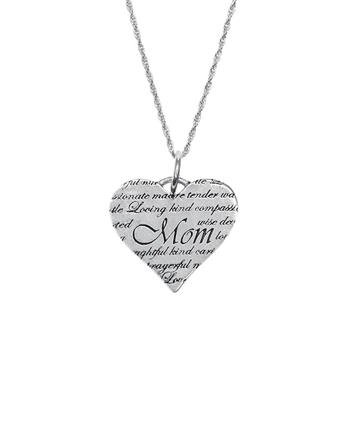 mothers-day: Silver Engraved Mom Necklace!
