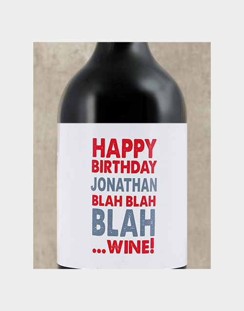personalised: Personalised Birthday Blah Wine!