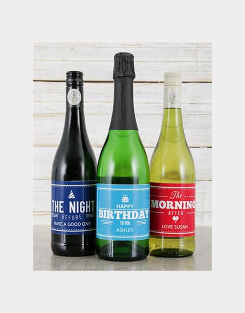 fine-alcohol: Personalised Birthday Wine Trio!