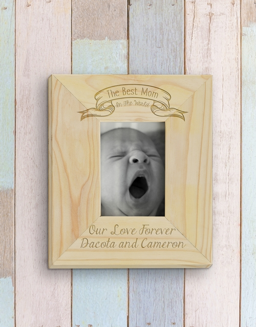 mothers-day: Personalised Best Mom Photo Frame!