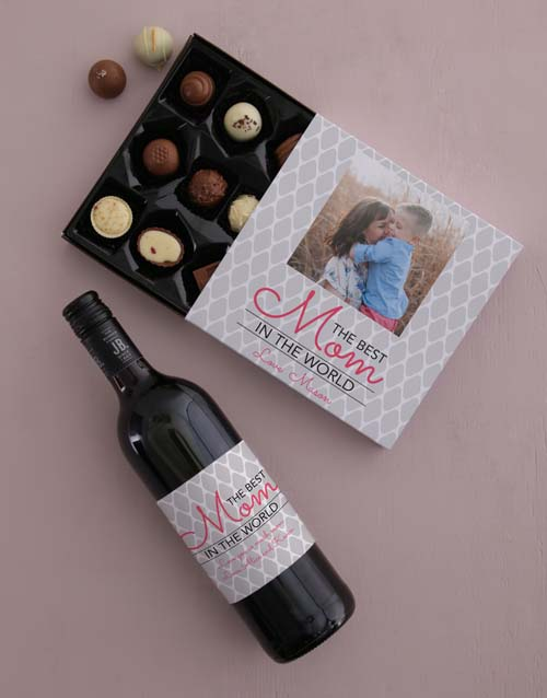 mothers-day: Personalised Photo Mom Choc Tray!