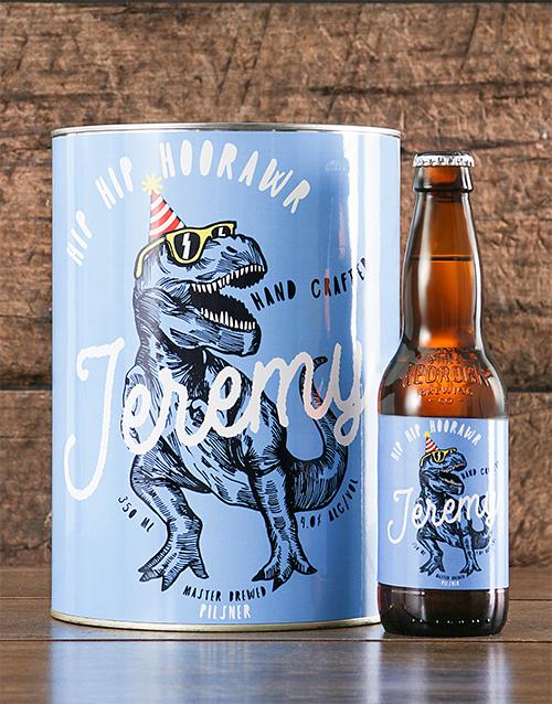 personalised: Personalised TRex Birthday Craft Beer!
