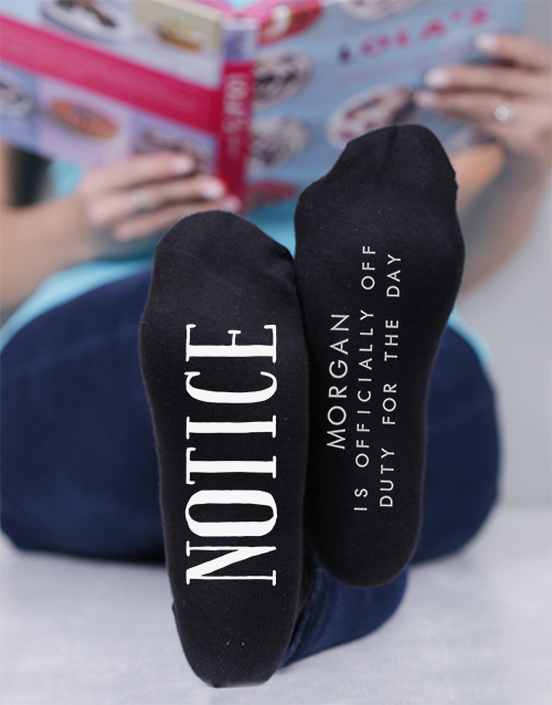 mothers-day: Personalised Off Duty Socks!