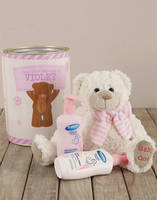 baby: Personalised Baby Girl Tin!