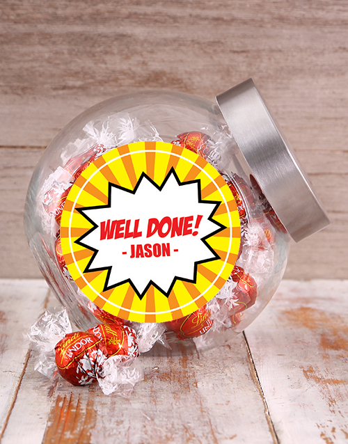 personalised: Well Done Speech Bubble Candy Jar!