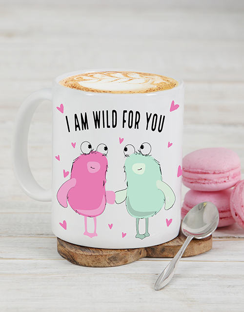 personalised: Personalised Wild For You Mug!