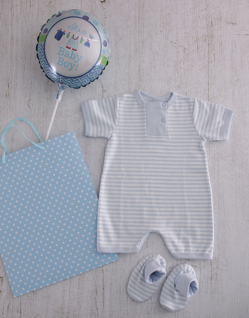 baby: Baby Boy Baby Grow and Booties Set!
