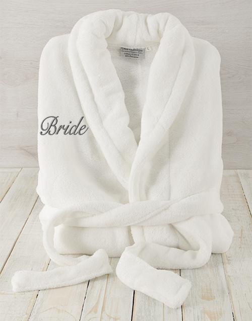bath-and-body: Bride White Fleece Gown!