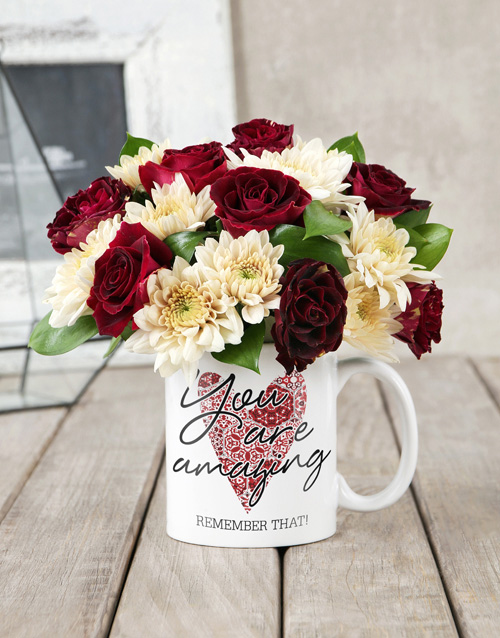 seasonal: You Are Amazing Rose Mug!