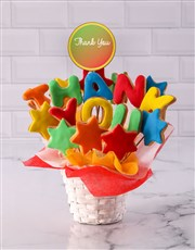 Personalised Thank You Cookie Bouquet