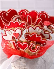 Personalised Lovely Cookie Bouquet