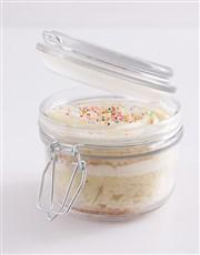 Single Vanilla Cupcake in a Jar
