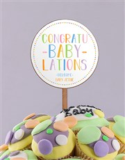 Personalised Bundle of Joy Baby Cupcake Bouquet